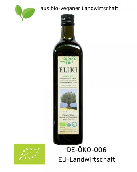 750 ml Bio Olivenöl extra nativ bio-vegan aus Griechenland, Patrini / Patras kaufen