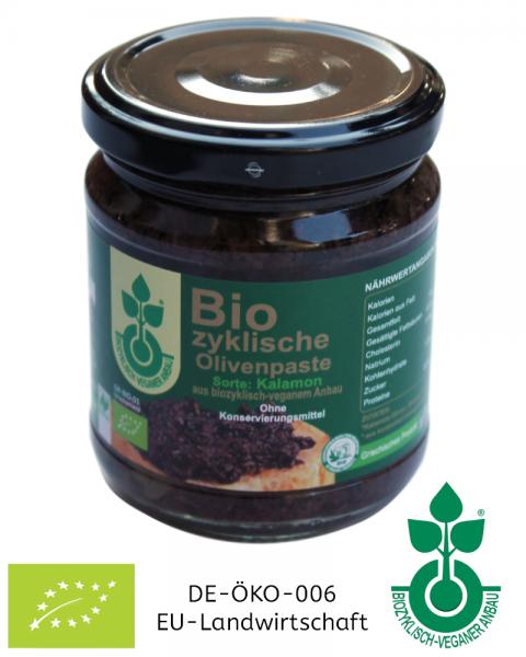 125 g Glas Olivenpaste aus biozyklisch-veganem Anbau, Griechenland, jetzt kaufen