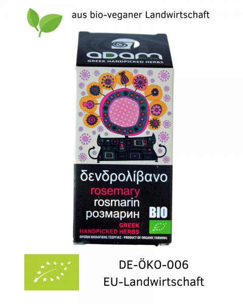 Bio ROSMARIN 40 g, getrocknet, handgepflückt aus bio-veganer Landwirtschaft / Griechenland