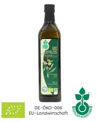 750 ml Bio-Olivenöl Ernte 2020/2021 biozyklisch-vegan Griechenland Glasflasche Kotrotsis