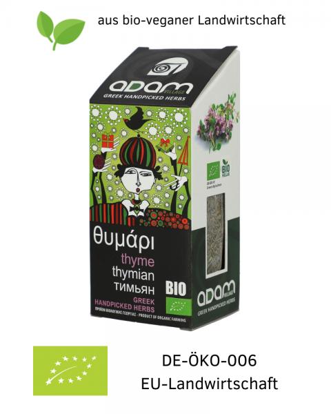 Bio THYMIAN 40 g, getrocknet, handgepflückt aus bio-veganer Landwirtschaft / Griechenland