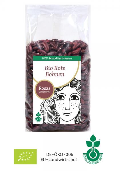 BIO Rote Bohnen trocken biozyklisch-vegan 500g bio-vegane Landwirtschaft