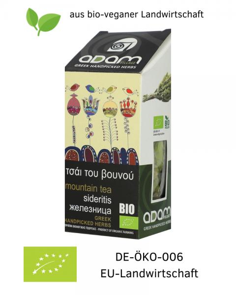 Bio GRIECHISCHER BERGTEE 20 g, getrocknet, handgepflückt aus bio-veganer Landwirtschaft / Griechenland, kaufen