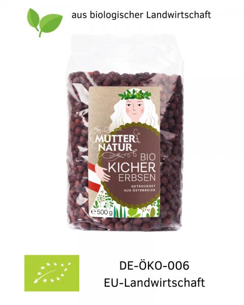 BIO Kichererbsen trocken biologische Landwirtschaft 500g Hülsenfrüchte - Anbau in Österreich