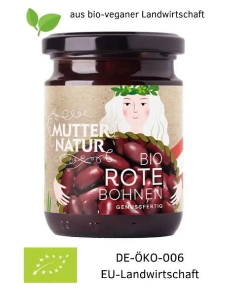 Bio-vegane Rote Bohnen genussfertig im Glas aus Österreich (Europa) 235 g aus bio-veganer Landwirtschaft